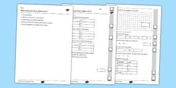 Year 6 Maths Assessment Term 2 Algebra - year 6, maths, assessment, term 2, algebra