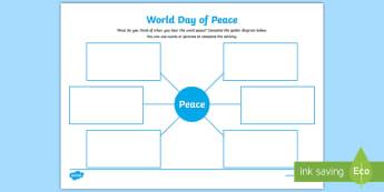 World Day of Peace Writing Activity Sheet - Catholicism, Catholic, 1st January, feast, International Day of peace,Scottish
