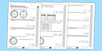 KS2 Reasoning Test Practice Solve Problems Converting Between Units of Time - Key Stage 2, KS2, Reasoning, Test, Practice, Measurement, Time