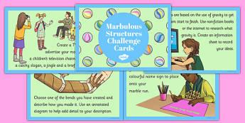Marbulous Structures Challenge Cards - marbulous structures, challenge cards