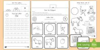 Letter O Activity Pack - Alphabet Packets, Letter Formation, Letter Identification, Beginning Sound, Short O, EYFS, KS1, Kind