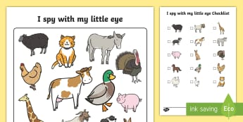 I Spy With My Little Eye Farm Odd One Out Activity - I spy, farm