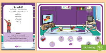 On and Off Concept Can You Find...? Poster and Prompt Card Pack - under 2s, opposites,