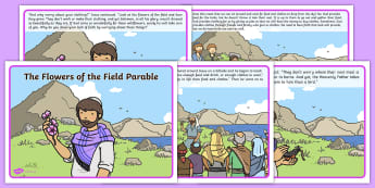 The Flowers of the Field Parable - flowers, field, parable, story