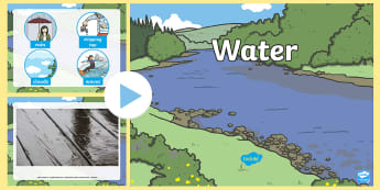 Water Video PowerPoint - water, water powerpoint, water videos, powerpoint videos of water, water interactive powerpoint, powerpoint, video powerpoint