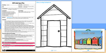 Shape Beach Huts EYFS Adult Input Plan and Resource Pack - pack