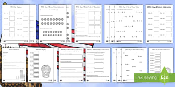 100th Day of School Grades 3-5 Math  Resource Pack USA - 100th Day of School USA, america, grade 3, grade 4, grade 5, math, one hundred, event, milestone,Aus