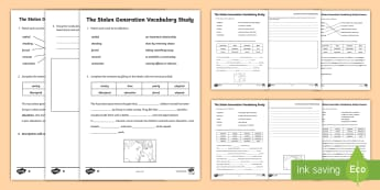 Stolen Generation Vocabulary Study Differentiated Activity - Reconciliation week, sorry day, aboriginal history, indigenous history, australian government