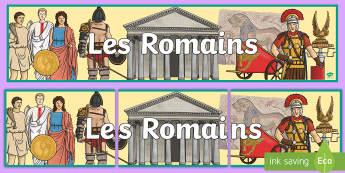 Bannière : Les Romains - Rome, romains, romans, nombres romains, roman numbers, maths, mathématiques, histoire, history, ant