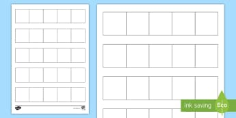 Blank Five Frame Activity Sheet - Ten frame, place value, number bonds, ten, number, worksheet, activity sheet, worksheet