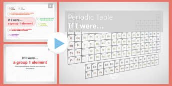 KS3 Periodic Table If I was.... PowerPoint