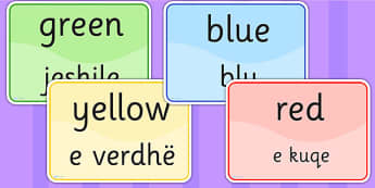 Colour Signs EAL Albanian Version - EAL display, lanuages, colour