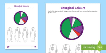 Liturgical Colours Activity - Liturgical seasons. liturgical Calendar, Liturgical colours, advent, Easter, ,Scottish