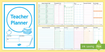 Teacher Planner - planner, planning, teacher, timetable,