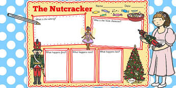 The Nutcracker Story Review Writing Frame - nutcracker, review