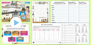 Year 3 Term 1A Week 1 Spelling Pack - Spelling Lists, Word Lists, Autumn Term, List Pack, SPaG, long a sound, eigh, ei,