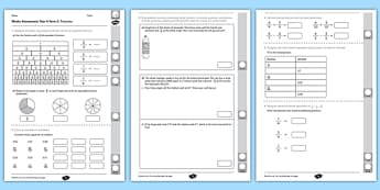 Year 4 Maths Assessment: Fractions Term 2 - year 4, maths, assessment, fractions
