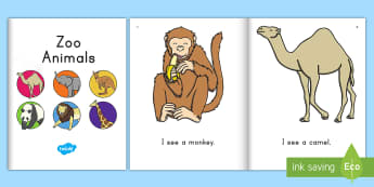 Zoo Animals Emergent Reader eBook - Early Childhood Animals, Animals, Pre-K Animals, K4 Animals, 4K Animals, Preschool Animals, Zoo Anim