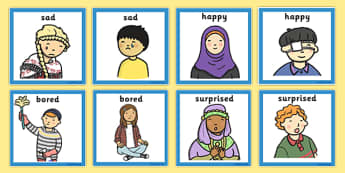 Emotions Matching Cards - emotions, matching cards, sen, cards