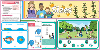 Big and Little EYFS Resource Pack - child minder, childminding, size, shape, space and measure, maths, eyfs, early years