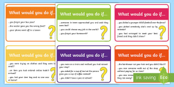 What Would You Do If...? Cards - Inference, conversation starters, social skills, group work, SLCN