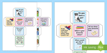 Conversation Starter Dice Activity - Secondary - SEN - lower ability resources, conversation, social skills, talking, practise.