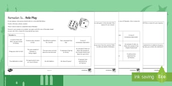 Ramadan Games Activity Sheets - Secondary - RE - Islam KS3, dice, fasting, worksheet, dedication, old tradition, Muslim, Christian,