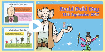 Roald Dahl Day 2017 PowerPoint - welsh, Roald Dahl Day, Roald Dahl 100, PowerPoint