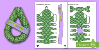 3D ANZAC Day Wreath Paper Craft - anzac day, wreath, lest we forget, 25th april, war, anniversary, gallipoli, history, soldiers