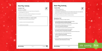 Christmas Foundation Tier Role-Play Activity Spanish - speaking, customs, events, talk, skills,