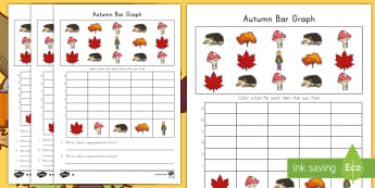 Autumn Count and Color Bar Graph Activity Sheet - bar graph, autumn, measurement and data, data, worksheet