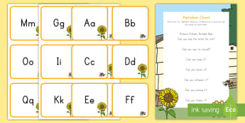 Alphabet Letter Chant Group Activity - Early Childhood Literacy, letter knowledge, alphabet, letter recognition.