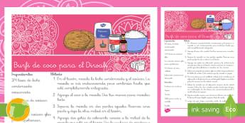 Receta: Burfi de coco para el Diwali - Diwali, recetas, comida, bocadillos, bocadillo, coco, fiesta, festival, festividad, cultura, cocina,
