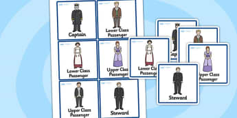 The Titanic Role Play Badges - titanic, role play, badge, history