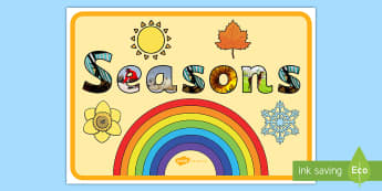 Seasons Photo Display Lettering A4 Display Poster - Seasons Photo Display Lettering - seasons, photo, display, letter, letering, displaylettering, displ