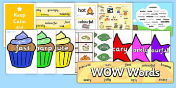 Wow Words Resource Pack - wow words, resource pack, resources, wow words pack, pack of resources, literacy, english, words, descriptive words, description