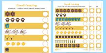 Diwali Numeracy Differentiated Activity Sheets