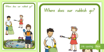 Where Does Our Rubbish Go? Display Poster - litter, recycling, New Zealand, rubbish journey, waste, display poster