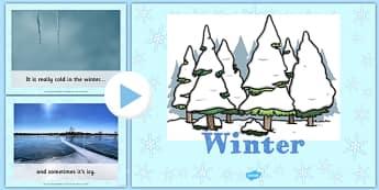 EYFS All About Winter PowerPoint - eyfs, winter, information, powerpoint