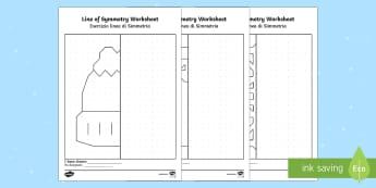 Winter Themed Symmetry Activity Sheets Italian / English - Winter Themed Symmetry Activity Sheets - winter, symmetry, worksheet, symettry, symetry, wnter, symm