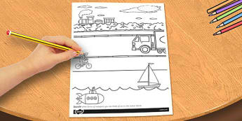 Travel and Transport Themed Doodle Page - doodle, page, travel