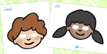 Jack and Jill Role Play Masks - australia, role-play, masks
