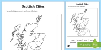 Scottish Cities Location Gaelic Activity Sheet