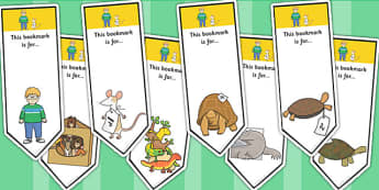 Editable Bookmarks to Support Teaching on The Great Pet Sale - pets, animals, books