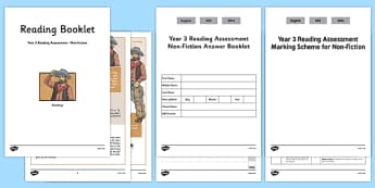Year 3 Reading Assessment Non-Fiction Term 2 - test, sats, summative, diagnostic, comprehension