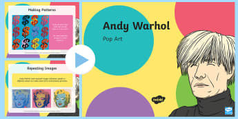 Andy Warhol Pop Art PowerPoint - pop art, andy warhol, art, print screening, colour,