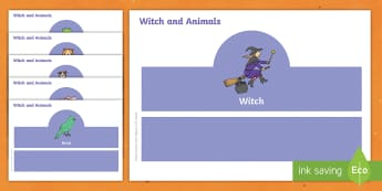 Witch and Animals Role Play Head Bands - roleplay, props, story