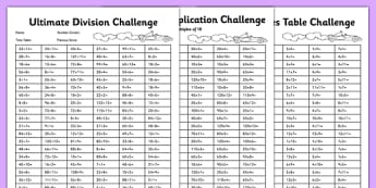 Ultimate Multiplication and Division Activity Sheet Pack - multiplication, ultimate, division, pack, activity, worksheet
