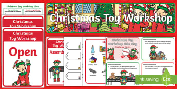 Christmas Toy Shop Role-Play Pack - Santa, Workshop, Elves, Elf, Role Play, drama, Performance, speaking and listening