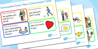 Conversation Game: Have a Conversation Cards - conversation game